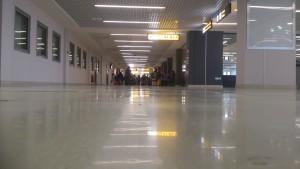 Versus the modern  hallway.