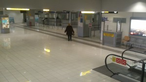 The passport control where I was refused entrance to Serbia.