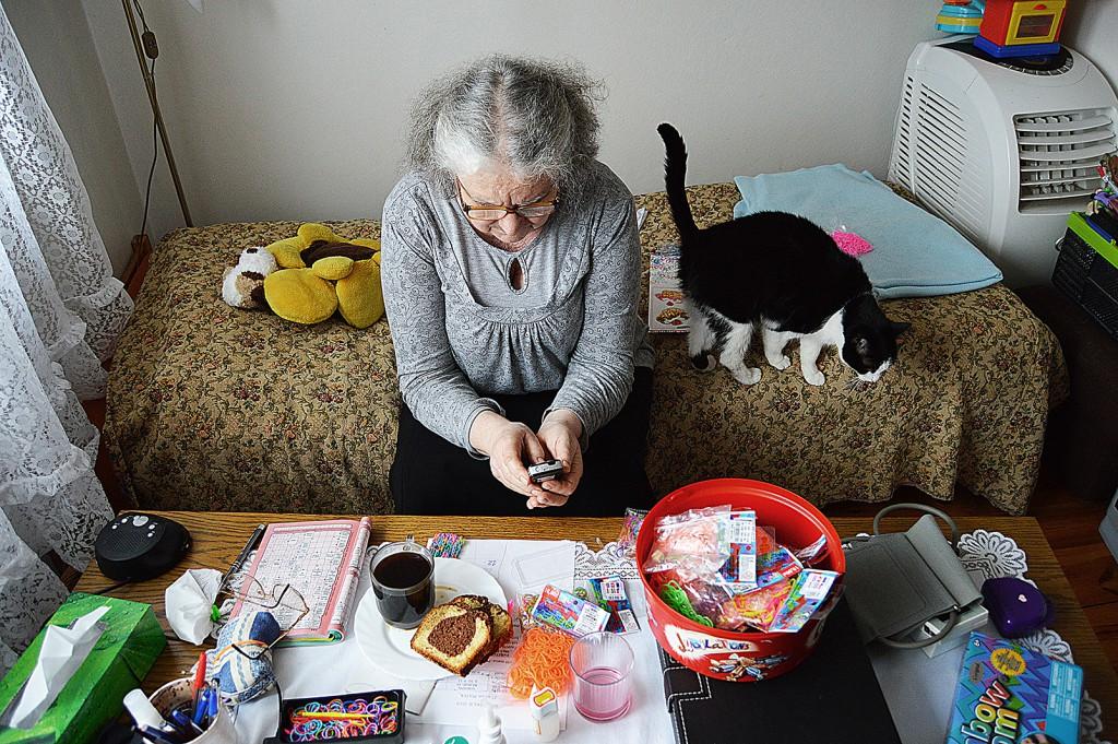 Aunt Irina with the cat