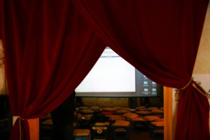 The main viewing room for upcoming films.