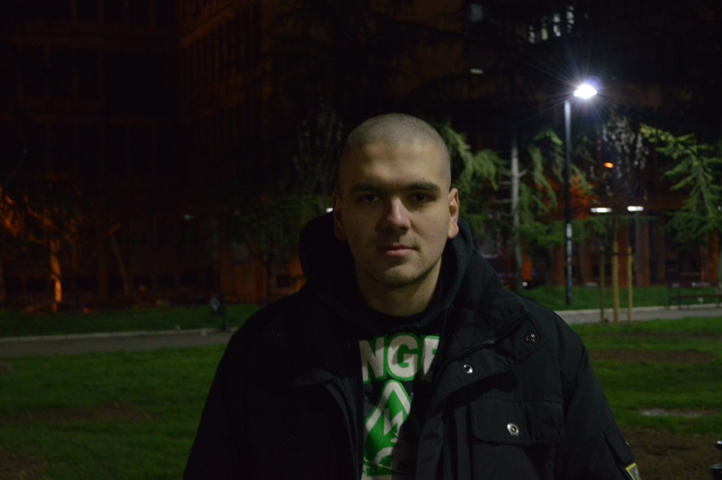 """Luka Cholić, 20, is one of the people in the park, who's not a part of the protest. He feels the city was forced into action by how the youth behaved, and he's unsure that the closure will actually happen, unless the youth keep behaving badly: """"I think they are saying it in order to make people behave better, in order to make people think about leaving before that happens [ drinking, pissing and sleeping in the park],"""" he says."""