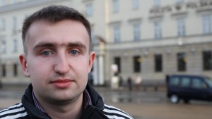 """It is easy for us to study in Polish, because Polish and Ukrainian are similar languages"", says Sviatoslav Solovei."
