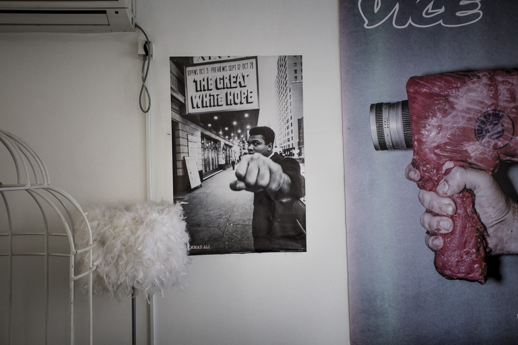 The walls of Vice Serbia's office are decorated with all kinds of posters. Photos by Tomas van der Heijden