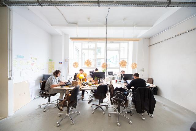 Entrepreneurs working away at Betahus.